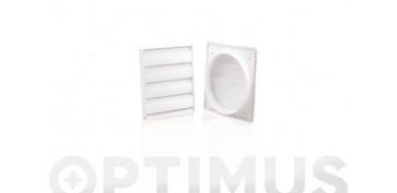 Ventiladores y extractores - VENTANILLA REJILLA TUBO EXTRACCION PVC EXTØ 120 MM