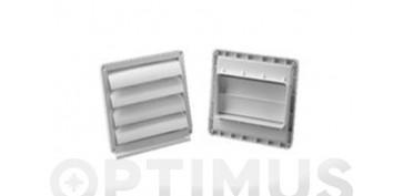 Ventiladores y extractores - VENTANILLA REJILLA TUBO EXTRACCION PVC EXT150 X 75MM