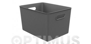 Cajas y baules - CESTA ORDENACION BAOBAB XL ANTRACITA23 X 38,5 X 29,4 CM
