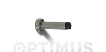 Topes y perchas adhesivas - TOPE DE PUERTA PARED CON TORNILLO INOX85 MM