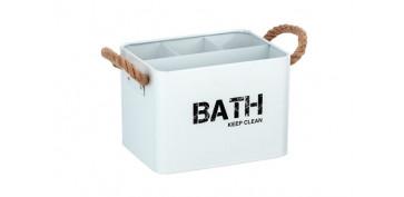 Accesorios para el baño - CESTA DE BAÑO CON COMPARTIMENTOS19X12.5X13CM-BLANCO
