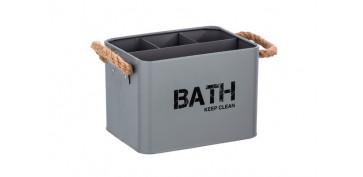 Accesorios para el baño - CESTA DE BAÑO CON COMPARTIMENTOS19X12.5X13CM-GRIS