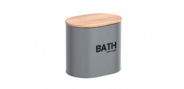 Accesorios para el baño - CESTA DE BAÑO CON TAPA14.5X13.5X10.5-GRIS