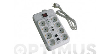 Cables - BASE MULTIPLE CON INTERRUPTOR Y PROTECCION8 TOMAS MULTIMEDIA