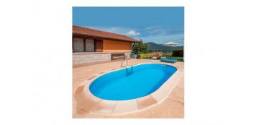 Piscinas, accesorios y complementos - PISCINA ACERO OVALADA ENTERRAR500 X 300 X 150 CM