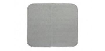 Ordenacion y conservacion de cocina - TAPETE ESCURRIDOR MICROFIBRA XL GRIS 45 X 60 CM