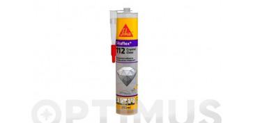 MASILLA SIKAFLEX 112 CRYSTAL CLEAR C47/12290 GR TRANSPARENTE