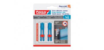 Topes y perchas adhesivas - CLAVO ADHESIVO SMS AJUSTABLE LIENZOS PARED PINTADA1.0 KG BLISTER 2 CLAVOS 3 TIRAS