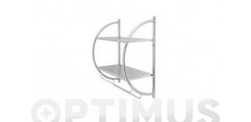 Accesorios para el baño - PORTATOALLAS PARED CROMO45 X 54.5 X 26 CM