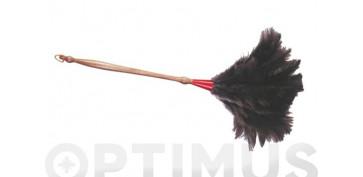 Utiles de limpieza - PLUMERO AVESTRUZ MANGO MADERA TORNEADON 4