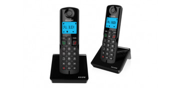 TELEFONO INALAMBRICOS250 DUO CALL BLOCK NEGRO