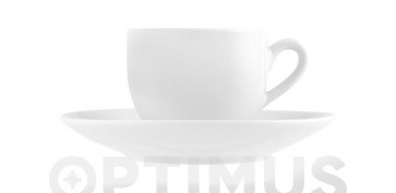 TAZA CAFE CON PLATO PORCELANA SWEDENBLANCO - 10 CL