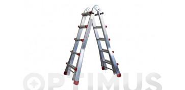 Escaleras - ESCALERA TELESCOPICA ALUMINIO6+6 PELDAÑOS