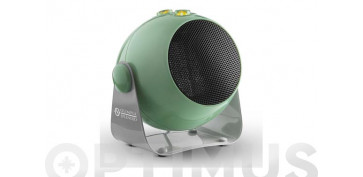 Novedades - TERMOVENTILADOR CERAMICO DESIGN1800W INCLINABLE COLOR VERDE