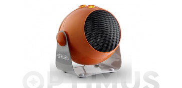 Novedades - TERMOVENTILADOR CERAMICO DESIGN1800W INCLINABLE COLOR NARANJA