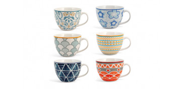 TAZA NEW BONE CHINA MULTIDECORADO 48,5 CL - DESAYUNO
