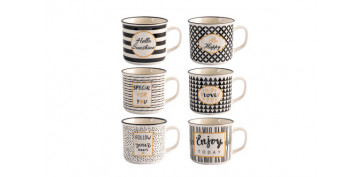 Novedades - TAZA NEW BONE CHINA BLACK GOLD 22 CL - TE