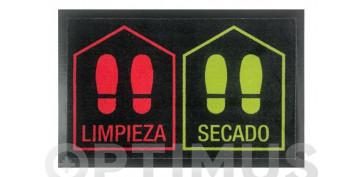 FELPUDO DESINFECTANTE LIMPIA/SECA45 X 70 CM