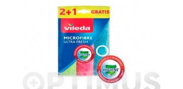 Utiles de limpieza - BAYETA MICROFIBRAS 2+1 ULTRA FRESH