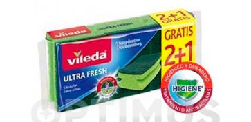 Utiles de limpieza - ESTROPAJO SALVAUÑAS 2+1 ULTRA FRESH