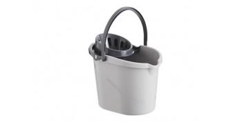 Utiles de limpieza - CUBO CON ESCURRIDOR ATOMIC GRIS 14 L