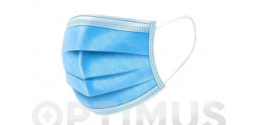 Proteccion de la cabeza - MASCARILLA QUIRUGICA DESECHABLE TIPO IIR AZUL 25 UNIDADES