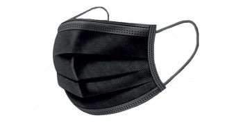 Proteccion de la cabeza - MASCARILLA QUIRUGICA DESECHABLE TIPO II NEGRA 25 UNIDADES