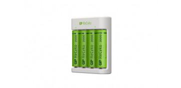 Pilas y baterías - CARGADOR PILAS USB AA-AAA INCLUYE 4 PILAS AA 2000MAH