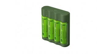 Pilas y baterías - CARGADOR PILAS USB AA-AAA INCLUYE 4 PILAS AA 2100MAH