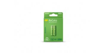 Pilas y baterías - PILA RECARGABLE RECYKO (BL.2) LR3-AAA 650MAH