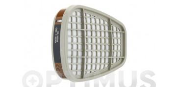 Proteccion de la cabeza - FILTRO A1 PARA MASCARA (4 PARES) 6051