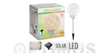 Iluminacion vivienda - LAMPARA SOLAR LED GIRATORIA ESFERA DIAM 15 CM