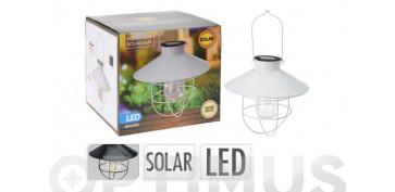 Iluminacion vivienda - LAMPARA DECORATIVA SOLAR BLANCA Ø 21,5 X 21 CM
