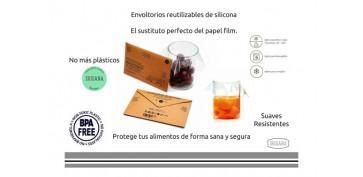 Ordenacion y conservacion de cocina - ENVOLTORIO REUTILIZABLE SILICONA SET 4 TAMAÑOS