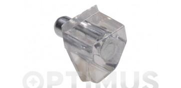 PORTAESTANTE PLASTICO MODELO 161 TRANSPARENTE Ø 5 X 18 X 11MM 8 UDS