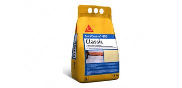 Masillas y siliconas - LECHADA PARA JUNTAS SIKACERAM 650 CLASSIC WHITE C2 BLANCO