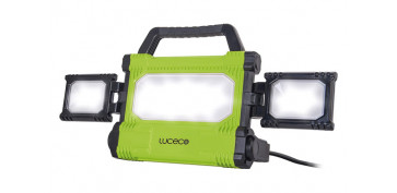 Iluminacion vivienda - PROYECTOR LED SLIM PORTÁTIL ORIENTABLE 5000LM 50W, NEGRO/VERDE 2M CABLE