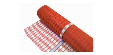 Señalizacion - MALLA REFLEX NARANJA 0,9 X 50 M ROLLO