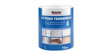 Pintura para paredes, techos y suelo - IMPRIMACION MULTIUSOS TODO TERRENO AL AGUA 750 ML GRIS CLARO