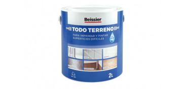 Pintura para paredes, techos y suelo - IMPRIMACION MULTIUSOS TODO TERRENO AL AGUA 2L NEGRO