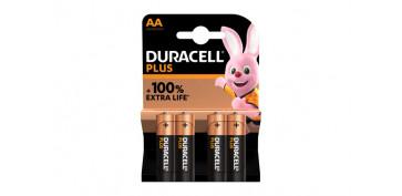 Pilas y baterías - PILA ALCALINA PLUS POWER LR06-AA BL.4