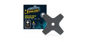 Accesorios y consumibles de jardín - DISCOS DE CORTE 4 DIENTES GARLAND