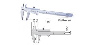 Metrología - CALIBRE VARILLAS PROFUNDIDAD REDONDA 1202-150