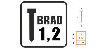 CLAVO BRAD 1.2MM CON CABEZA 8751