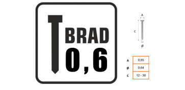 CLAVO BRAD 0.6 CON CABEZA 4740