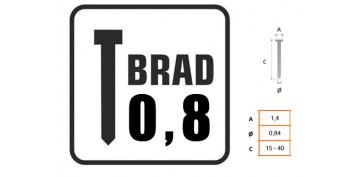 CLAVO BRAD 0.8 CON CABEZA 8721