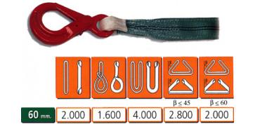 Elevación Sujeción y Transporte de Cargas - ESLINGA PES DB 60mm 2T 1,2M REF: 030.071.120.402