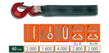 Elevación Sujeción y Transporte de Cargas - ESLINGA PES DB 60mm 2T 1,2M REF: 030.070.120.402