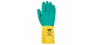 Guantes - GUANTES LATEX  FLOCADO BICOLOR JUBA 622
