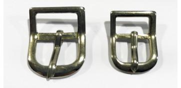 Antigüedades - HEBILLA PEQUEÑA CROMADA SIMPLE 10mm Y 12 mm